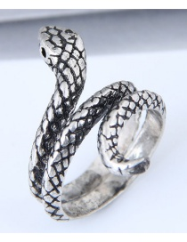 Vintage Antique Silver Snake Shape Design Simple Ring