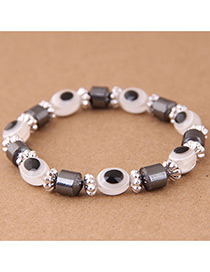 Fashion Light Pink Eye Shape Decorated Bracelet