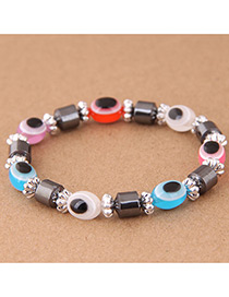 Fashion Multi-color Eye Shape Decorated Bracelet