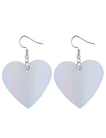 Fashion Silver Color Heart Shape Decorated Simple Earrings