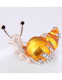 Fashion Yellow Snail Shape Decorated Simple Brooch