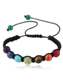 Elegant Multi-color Beads Decorated Color Matching Bracelet