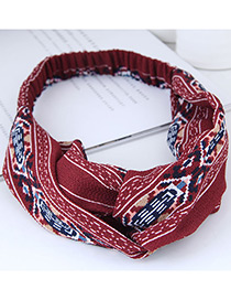 Sweet Red Geometric Shape Pattern Decorated Hair Band
