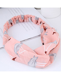 Sweet Pink Flamingo Pattern Decorated Wide Hair Band