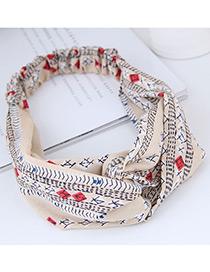 Fashion Beige Rhombus Pattern Decorated Hairband