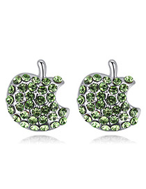 Fashion Green Apple Shape Decorated Earrings