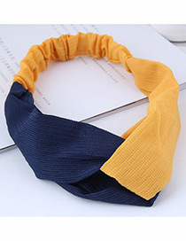 Fashion Yellow Color Matching Decorated Headband