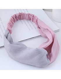 Fashion Pink Color Matching Decorated Headband