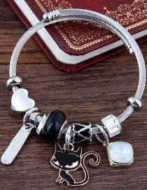 Fashion Black Cat Shape Decorated Bracelet