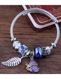 Fashion Blue Leaf Shape Decorated Bracelet