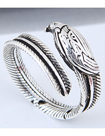 Fashion Silver Color Bird Shape Design Opening Ring