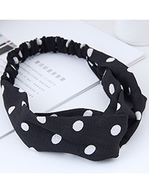 Fashion Black+white Spot Shape Decorated Headband