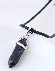 fashion Navy Bullet Shape Decorated Necklace