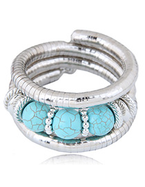 Fashion Blue Round Shape Decorated Bracelet