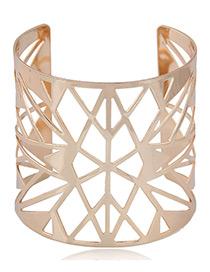 Fashion Gold Color Hollow Out Design Pure Color Opening Bracelet