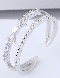 Fashion Silver Color Bowknot Shape Decorated Ring
