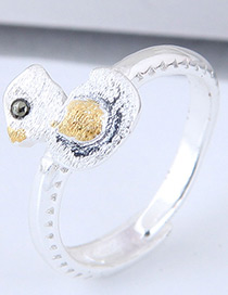 Fashion Silver Color Duck Shape Decorated Ring
