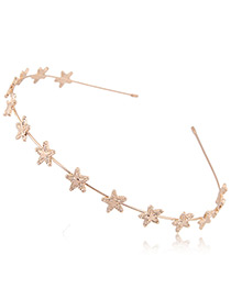 Fashion Gold Color Star Shape Decorated Hairband