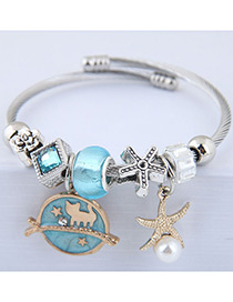 Fashion Blue Starfish Shape Decorated Bracelet