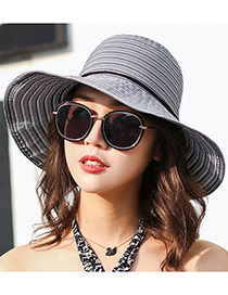 Fashion Black Bowknot Shape Decorated Hats