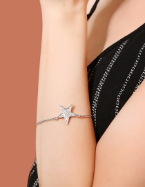 Fashion Silver Color Star Shape Decorated Bracelet