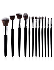 Fashion Multi-color Color Matching Design Cosmetic Brush(12pcs)