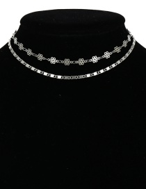 Fashion Silver Color Hollow Out Shape Decorated Nacklace