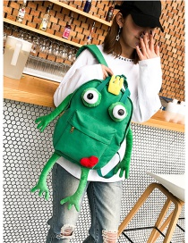Fashion Green Frog Shape Decorated Backpack(l)