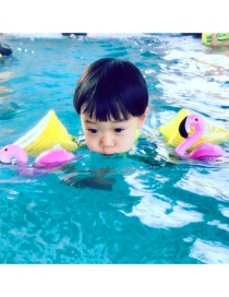Fashion Pink Swan Shape Decorated Children Swimming Arm Ring