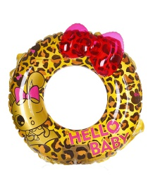 Fashion Yellow Leopard Shape Decorated Swimming Ring