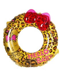 Fashion Yellow Leopard Shape Decorated Swimming Ring(90)