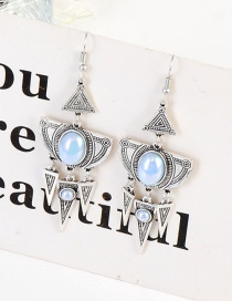 Fashion Silver Color Geometric Shape Design Earrings