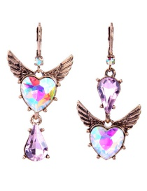 Fashion Multi-color Wing Shape Design Geometric Earrings