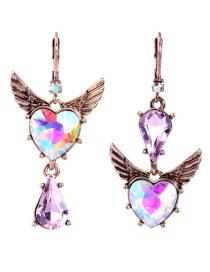 Fashion Multi-color Wing Shape Design Geometric Earrings