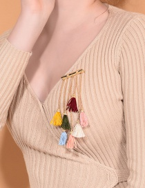 Fashion Multi-color Tassel Decorated Multi-color Earrings