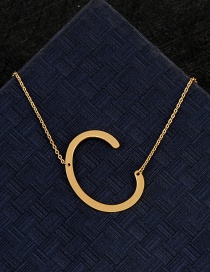 Fashion Gold Color C Letter Shape Decorated Necklace