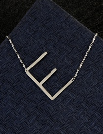 Fashion Silver Color E Letter Shape Decorated Necklace