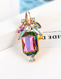 Fashion Multi-color Geometric Shape Design Multi-color Ring
