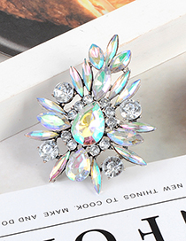 Fashion Multi-color Geometric Shape Decorated Ring