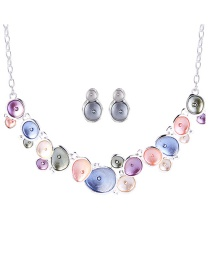Fashion Multi-color Round Shape Decorated Multi-color Jewelry Sets
