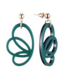 Fashion Green Wing Shape Decorated Earrings
