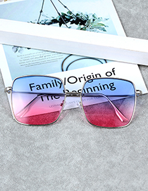 Fashion Multi-color Square Shape Decorated Sunglass