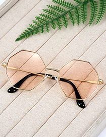 Fashion Yellow Geometry Shape Decorated Sunglass
