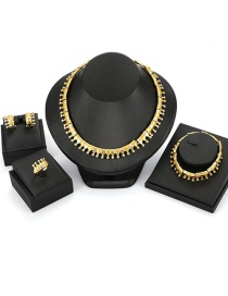 Fashion Gold Color Crown Shape Decorated Jewelry Set (4 Pcs )