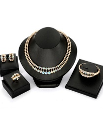 Fashion Gold Color Pure Color Decorated Jewelry Set (4 Pcs )