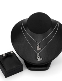 Fashion Silver Color Heart Shape Decorated Jewelry Set(3 Pcs )