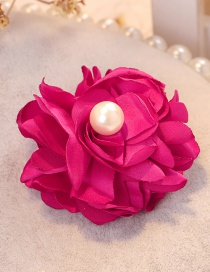 Fashion Plum Red Flower Shape Decorated Hair Clip