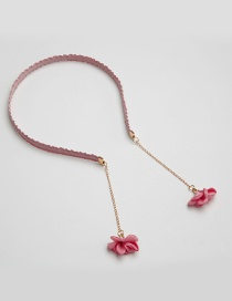 Fashion Pink Flower Shape Decorated Headband