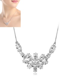 Fashion White Pure Color Decorated Simple Necklace
