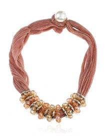 Fashion Red Pure Color Decorated Necklace